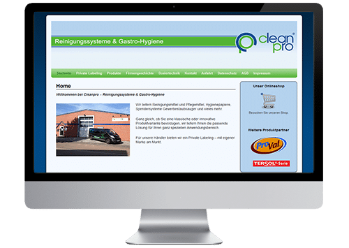 Foto Website Cleanpro