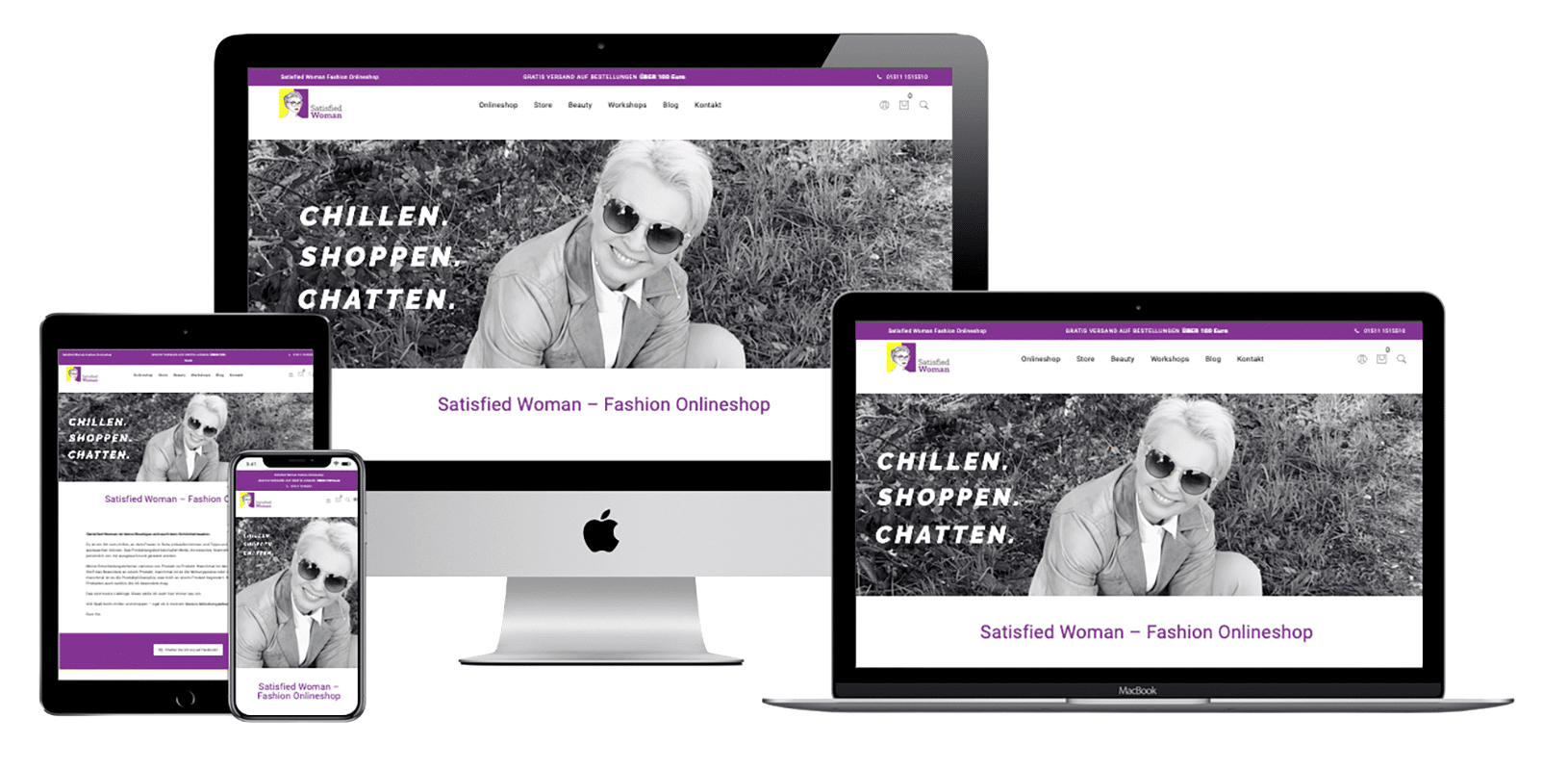 Referenz Satisfied Woman Onlineshop