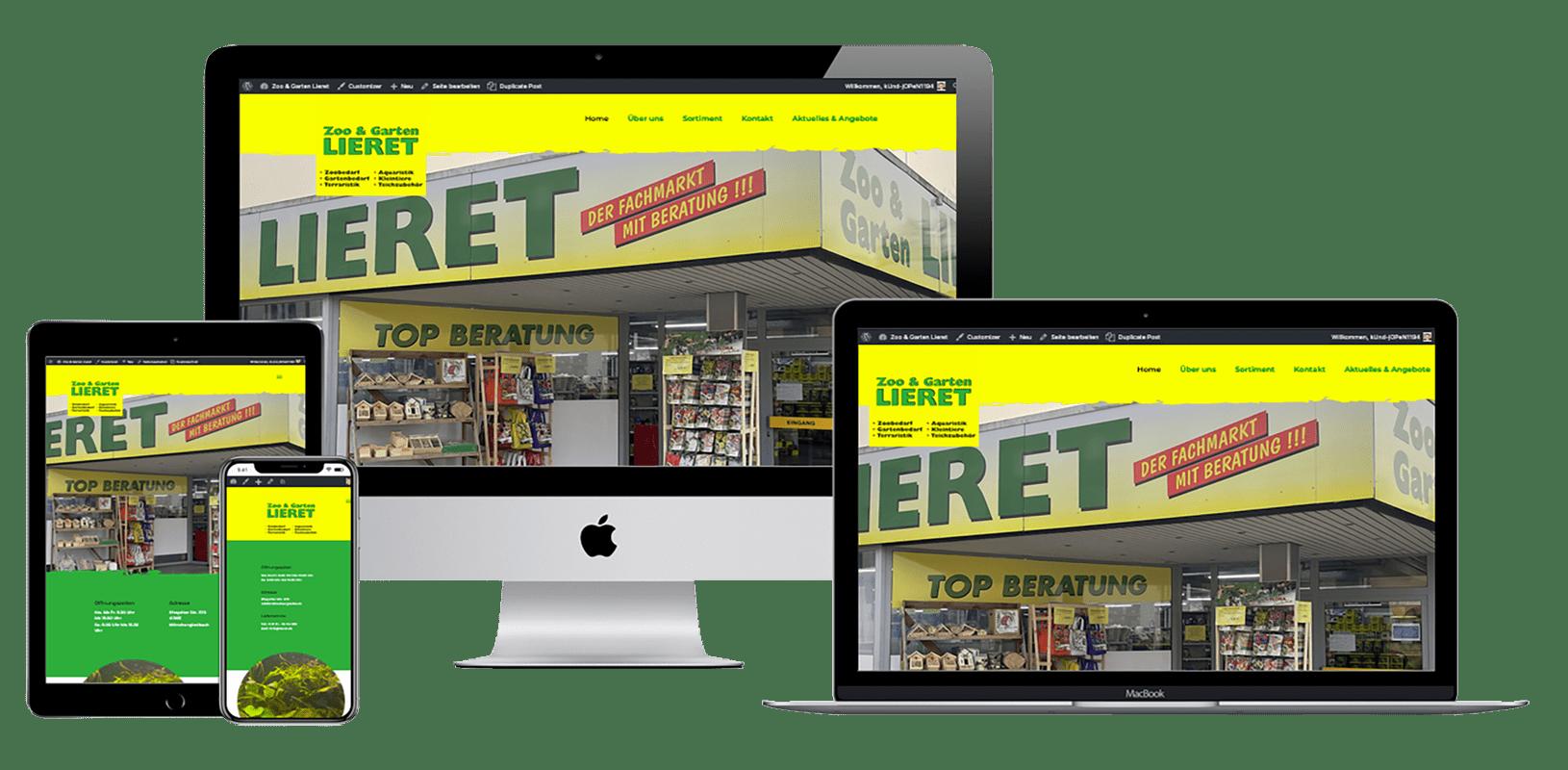 Zoo und Garten Lieret Webdesign